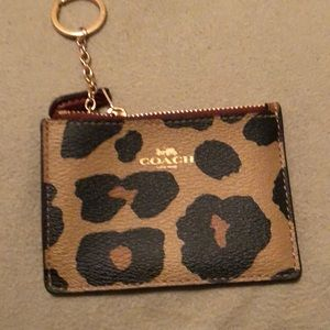 COACH Mini ID Case Wallet Animal Print